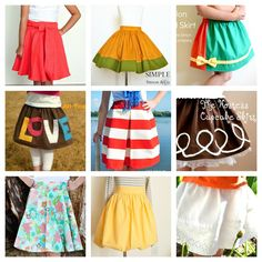 9 Great Skirt Tutorials that You Can Make for Your Little Girls.  These skirts are easy to make and you don't even need a pattern! - Simple Simon and Company