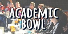Check out our Academic Bowl webpage for information about the upcoming competitions and registration.