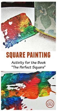 Learning about Squares, activity for the book The Perfect Square - Teaching 2 and 3 Year Olds