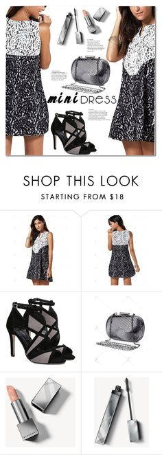 """""""Sleeveless Color Block Lace Mini Dress"""" by jecakns ❤ liked on Polyvore featuring Burberry"""