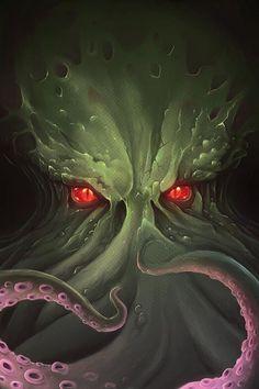 Cthulhu Head by PapaOurs on DeviantArt Underwater Art, Underwater Creatures, Otto Schmidt, Zbrush, Dark Fantasy, Fantasy Art, Cyberpunk, Cthulhu Tattoo, Concept Art Landscape