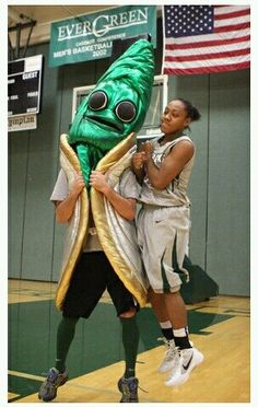 """Geoducks Pronounced """"gooey-duck,"""" the Evergreen State College (Washington) mascot is the world's largest burrowing clam. Originating in the northwest, the Geoduck is one of the best college mascots in terms of sheer longevity, living over 160 years!"""