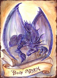Book Wyrm by ~rynkitty on deviantART