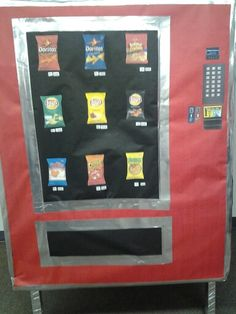 """Vending machine prop for """" break room""""  VBS 2014"""