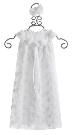 Bebemonde Girls White Christening Gown and Headband $89.00
