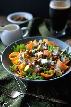 A Killer Vegan Salad by 10thkitchen #Salad #Vegan #Chickpea #Healthy