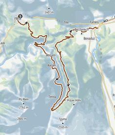 KtGR Flims   Safiental   Reichenau • Mountainbike » outdooractive.com Map, Trench, Flims, Communities Unit, Location Map, Maps