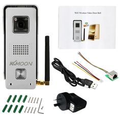 56.53$  Watch now - http://ai34d.worlditems.win/all/product.php?id=S1038AU - KKmoon 0.3MP Wireless WiFi Door Phone Visual Intercom Doorbell support Record Snapshot Unlock Lock Time Delay Hotspot P2P Android/iOS APP Infrared Night View Rainproof Motion Detection Alarm for Home Surveillance