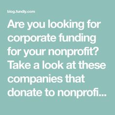 you looking for corporate funding for your nonprofit? Take a look at these companies that donate to nonprofits and submit your donation requests! Fundraising Letter, Fundraising Activities, Nonprofit Fundraising, Fundraising Events, Fundraisers, Donation Letter Samples, Donation Request, Good Introduction, Grant Writing