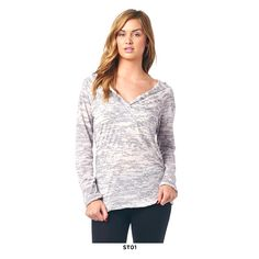 Popana Burn-Out V-Neck Hoodie - Assorted Styles