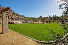 Palm Springs Vacation Rentals. Another view of Venue #1 at daytime. Beautiful green grass area to view the stage.