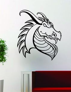 Dragon Baby Silhouette Vinyl Wall Decal Sticker Nursery - Custom vinyl wall decals dragon