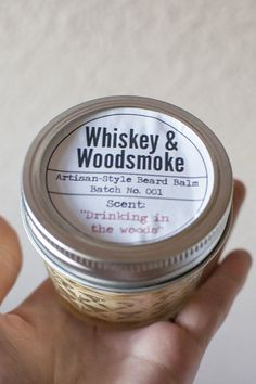 DIY beard balm tutorial recipe Whiskey and Woodsmoke