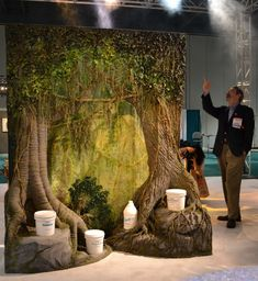 """Peter Miller's """"Tree Project"""" on display at USITT 2012."""