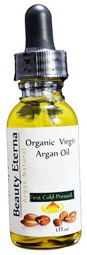 Organic Virgin Argan Oil First Cold-Pressed 1oz by Beauty Eterna by Beauty Eterna. $10.49. Balanced sebum production (helps clear acne and monthly blemishes). Reduced scarring. Relief for eczema and psoriasis (even for babies). fast absorbing and moisturizes. First Cold-Pressed What does First Cold-Pressed mean? When Argan oil has been cold-pressed, it means it was not heated over a certain temperature. It means it was pressed at temperatures below 60 degrees; this al...