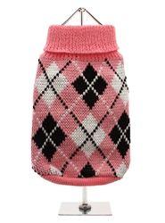 Pink & Black Argyle Sweater