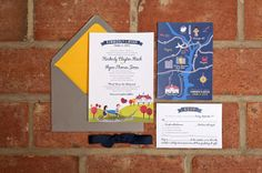 wedding stationery maps - Read more on One Fab Day: http://onefabday.com/wedding-stationery-with-maps/