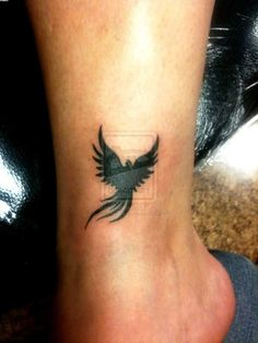 Small Size Black Phoenix Tattoo Photo - 1: Real Photo, Pictures ...