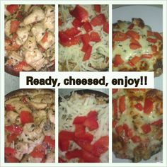 Chicken marsala stuffed portobella mushrooms with red bell pepper and white cheese. Created this low carb lunch today. It was awesome!! Definately a keeper.