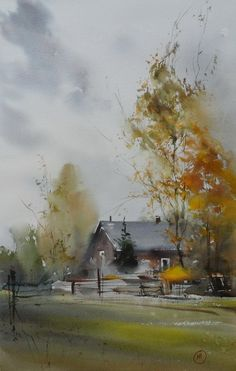 Beautiful watercolor by Ilya Ibryaev