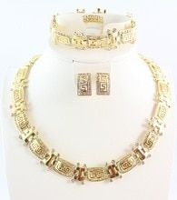 Glamurous Gold plated jewelry set for every woman with style. Bangle Bracelets, Bracelet Watch, Bangles, Necklaces, Engagement Jewelry, Rhinestone Necklace, Ring Earrings, Jewelry Sets, Bridal Jewelry