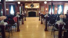 Fireplace Wedding Ceremony - Chandelier Ballroom