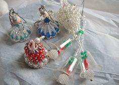 Vintage Beaded Christmas Angel Ornaments  by vintageexchange