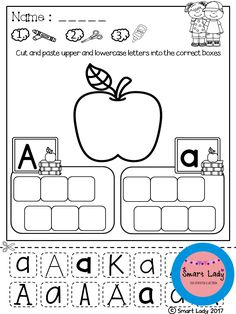 Alphabet Cut and Paste. Your students will have fun learning to write their letters with this 26 page packet of activities. Each page represents a letter of the alphabet and has many opportunities for students to practice letter formation and writing their letters.