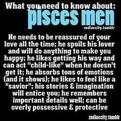What pisces men want
