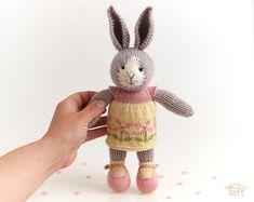 According to the pattern by Little cotton rabbits Wool Yarn, Merino Wool, Julie Williams, Little Cotton Rabbits, Crochet Teddy, Plush Animals, Cotton Thread, Mild Soap, Black Cotton