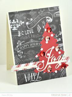 card christmas tree chalkboard background Dawn McVey #PTI chalkboard
