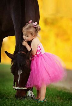 children and horses :0) lovely duos - #1 A little ballerina and her horsy friend ;0)