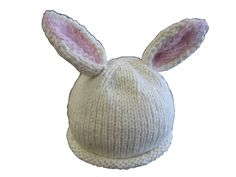 This is one of my favorite patterns, looks amazing! Baby Bunny Hat pattern by Rebecca Lennox Baby Hats Knitting, Knitting For Kids, Knitting Projects, Knitted Hats, Knitting Tutorials, Knitting Ideas, Free Knitting, Easter Crochet Patterns, Crochet Bunny