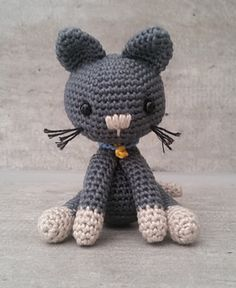 Ravelry, #crochet, free pattern, amigurumi, cat, stuffed toy, #haken, gratis patroon (Engels), kat, kitty, knuffel, speelgoed, #haakpatroon