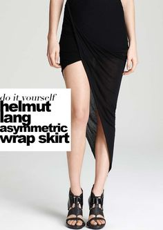 Sylvia Salas, from Dare To DIY is a fashion blogger to follow. Her YouTube video tutorials are followed by hundreds of thousands and she shares inspiration and tips for easy beginner level projects. This week she made a tutorial for a minimalist style Helmut Lang inspired asymmetric jersey wrap skirt made from a maxi …