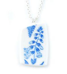 Necklace Medicinalväxter - Necklace manufactured from recycled porcelain. #stiglindberg #gustavsberg