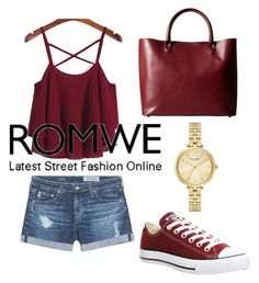 """""""romwe"""" by ilenia-aretusi ❤ liked on Polyvore featuring AG Adriano Goldschmied, Meli Melo, Converse and Kate Spade"""
