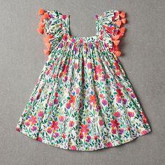 Buy nellystella chloe dress – poppy floral from Thumbeline Baby Girl Frocks, Frocks For Girls, Dresses Kids Girl, Kids Outfits, Kids Frocks Design, Baby Frocks Designs, Baby Girl Fashion, Kids Fashion, New Baby Dress