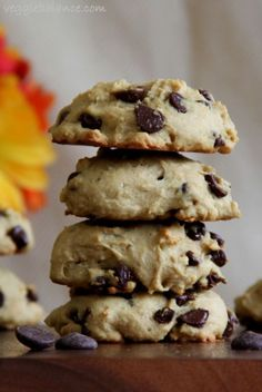 Skinny Chocolate Chip Cookie - Veggiebalance.com