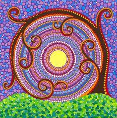 En espiral y torciendo Árbol de la Vida por Elspeth McLean