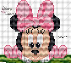 Disney's Little Mermaid cross Cross Stitch For Kids, Cross Stitch Baby, Cross Stitch Charts, Cross Stitch Designs, Cross Stitch Patterns, Mickey Mouse Characters, Mickey Mouse And Friends, Minnie Mouse, Crochet Disney