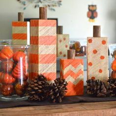 I know your greatest struggle - DIY Fall Crafts are hard to recreate and results are terrible! These DIY Fall Craft Ideas are so easy you can do them today. Decor Crafts, Wood Crafts, Diy And Crafts, Diy Wood, Rustic Wood, Easy Fall Crafts, Holiday Crafts, Diy Y Manualidades, Wood Pumpkins