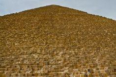 A sense of scale; Giza great pyramids; near Cairo, Egypt.  December 2008.