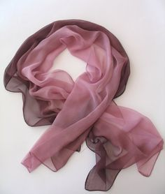 Heathered Fig Dusty Rose Scarf  Silk Fashion Scarf  by ScarfBeauty, $14.90. My romantic color.