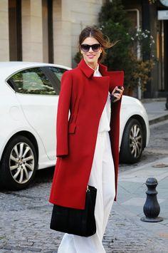 Red maxmara coat   maritsa