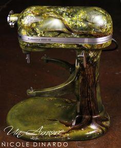Peacock Themed Kitchen | Fairy Tale Tree KitchenAid Mixer