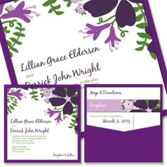 Bloom Clutch - Unique Wedding Invitation by The Green Kangaroo
