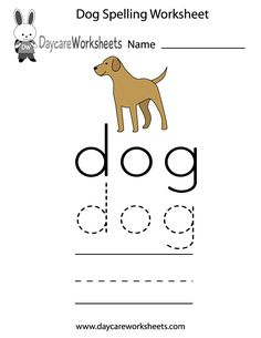 Our free spelling worksheets will assist preschoolers in learning how ...