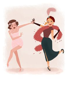 bobashart: flapper ladies