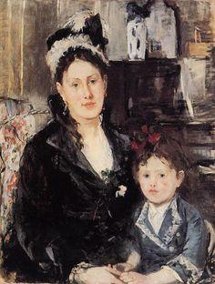 Mme Boursier and Her Daughter, 1873 // Berthe Morisot